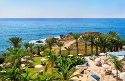 Medelhavs- semesterort Arkivfoton