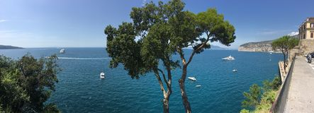 Medelhavs- sikt av Sorrento, Italien Arkivfoto