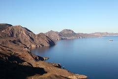 medelhavs- sikt för kustlinje Royaltyfria Foton