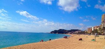 Medelhavs- sikt från spanjorkust Royaltyfri Bild