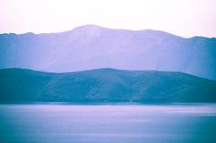 Medelhavs- sikt på Adriatiskt havet, Kroatien Fotografering för Bildbyråer
