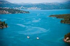 Medelhavs- sjösida Royaltyfri Fotografi