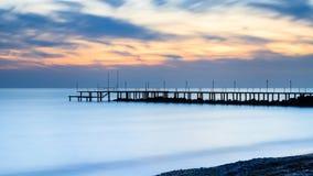 Medelhavs- skymning Fotografering för Bildbyråer