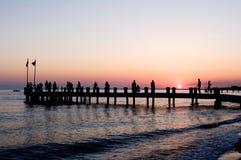 medelhavs- solnedgång Royaltyfria Bilder