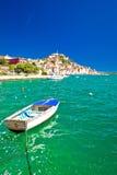Medelhavs- stad av den Sibenik sikten Royaltyfri Foto