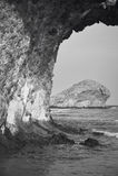 Medelhavs- stenkustlinje på Monsul i Almeria, Spanien Royaltyfri Bild