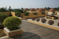 Medelhavs- stilbyggnad Arkivbild