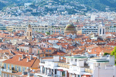 Medelhavs- stilhus och tak Royaltyfri Bild
