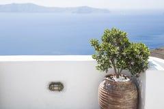 Medelhavs- terrass royaltyfria bilder