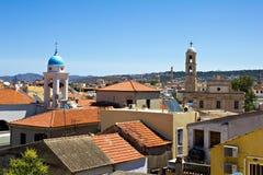 Medelhavs- town, Chania, Crete Royaltyfria Bilder