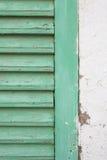 Medelhavs- träfönster Royaltyfria Bilder