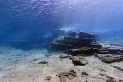 Medelhavs- undervattens- landskap Arkivfoton