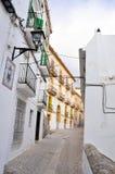 medelhavs- white för arkitekturibizaö Arkivbild