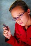 medelhemlighetkvinna Fotografering för Bildbyråer