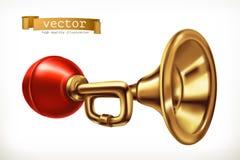Medelhorn gears symbolen Royaltyfri Bild