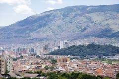 MedellÃn, Antioquia/Colômbia - 25 de agosto de 2018 Vista geral da cidade de Medellin imagens de stock