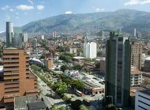 MedellÃn, Antioquia/Colômbia - 26 de dezembro de 2018 Ideia da área central da cidade Medellin é o capital do foto de stock royalty free