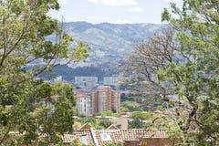 MedellÃn, Antioquia/Kolumbien - 25. August 2018 Überblick über die Stadt von Medellin stockfoto