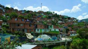 MedellÃn Colombia, sikt inhyser comuna 13 i Latinamerika lager videofilmer