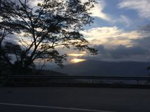 Заход солнца Medellin стоковая фотография rf