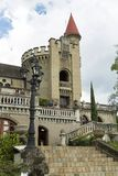 Medellin, Antioquia/Colômbia - 7 de outubro de 2018 Vista panorâmica bonita do museu gótico medieval do castelo em Medellin fotos de stock royalty free
