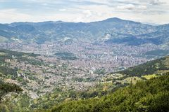 Medellin, Antioquia / Colombia - August 10, 2018. View of the city. Medellin is Colombia`s second largest city with a population. Medellin, Antioquia / Colombia royalty free stock photo