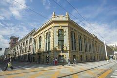 Medellin Antioquia/Colombia - Februari 02, 2017 Sanen Ignacio Building är de historiska högkvarteren av universitetet av A Royaltyfria Bilder
