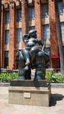 Medellin, Antioquia / Colombia - November 10 2015: Activity in the Botero Plaza. Sculpture by Fernando Botero Stock Photo