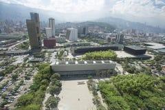 Medellin Antioquia/Colombia - September 16, 2016 Överblick av staden av Medellin Det grundades på mars 2, 1616 Royaltyfri Bild