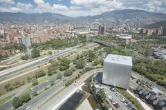 Medellin Antioquia/Colombia - September 16, 2016 Överblick av staden av Medellin Det grundades på mars 2, 1616 Royaltyfria Foton