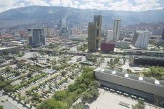 Medellin, Antioquia/Colombia - September 16, 2016 Overzicht van de stad van Medellin Het werd gebaseerd op 2 Maart, 1616 Stock Foto's
