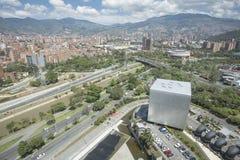 Medellin, Antioquia/Colombia - September 16, 2016 Overzicht van de stad van Medellin Het werd gebaseerd op 2 Maart, 1616 Royalty-vrije Stock Foto's