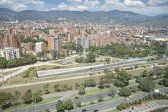 Medellin, Antioquia/Colombia - September 16, 2016 Overzicht van de stad van Medellin Het werd gebaseerd op 2 Maart, 1616 Stock Foto