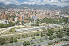 Medellin, Antioquia/Colombia - 16 settembre 2016 Panoramica della città di Medellin È stato fondato il 2 marzo 1616 Fotografia Stock