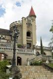 Medellin, Antioquia/Kolumbien - 7. Oktober 2018 Schöner Panoramablick des mittelalterlichen gotischen Schlossmuseums in Medellin lizenzfreie stockfotos