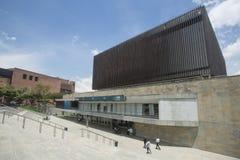 Medellin, Antioquia/Kolumbien - 28. September 2016 Piazza-Bürgermeister, internationale Versammlung und Ausstellungs-Mitte stockbilder