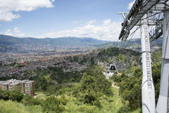 Medellin Colombia cable car. Stock Images