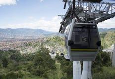 Medellin Colombia cable car. Stock Photo