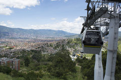 Medellin Colombia cable car. Royalty Free Stock Photos