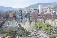 Medellin, Colombia, de stad in 28 JULI, 2015 Royalty-vrije Stock Foto