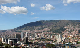 Medellin downtown. Colombia. Buildings. Landscape Royalty Free Stock Image