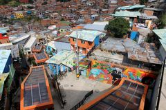 Medellin escalators Royalty Free Stock Photography