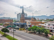 Medellin Highway at Sunny Day Stock Photo