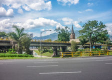 Medellin Highway at Sunny Day Royalty Free Stock Photo