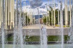 Medellin huvudsaklig fyrkant Royaltyfria Foton