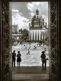 Medellin, Kolumbia; Listopad 02, 2018: Botero miejsce w normalnym popołudniu fotografia stock