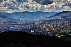 Medellin Kolumbia miasta głąbik obrazy royalty free