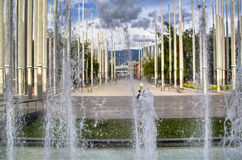 Medellin main square Royalty Free Stock Photos