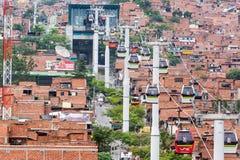 Medellin Metro Cable Cars Stock Photos