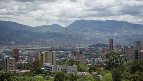 Medellin, the second biggest city in Colombia. Stock Images